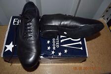Black Roch Valley men's BLB ballroom/latin dance shoes-size UK Child 1