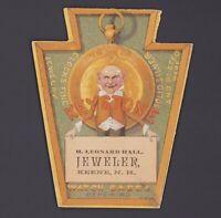 Werbekarte Juwelier - Victorian Trade Card - Keystone Coin -Jeweler Taschenuhren
