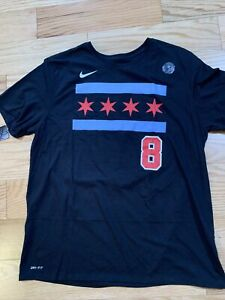 Nike NBA Chicago Bulls ZACH LAVINE NAME AND NUMBER TEE Sz XXL AO0878-010 City Ed