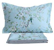 FADFAY Blue Bird Print Bed Sheet Set 4-Piece King Size