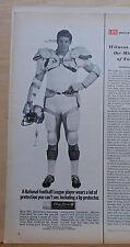 Vintage 1968 Magazine ad for Chapstick - NFL Dallas Cowboy Bob Lilly in gear