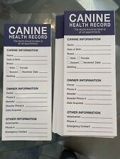Canine(Dog/Puppy) Health Vaccinations Deworming Records (24 Pack)