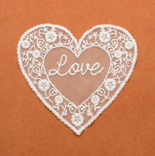 2pcs Heart-shape Net yarn Embroidered Lace Collar curtain/Clothing Accessories