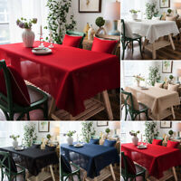 Tablecloth Rectangular Waterproof Kitchen Tea Table Covers Home Wedding Banquet