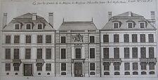 ARCHITECTURE, ENTREE MAISON MR HINSELLIN, ISLE NOTRE DAME, gravure 18 eme