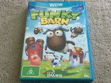 Funky Barn - Nintendo Wii U game - RARE : PAL Australian version - With Manual