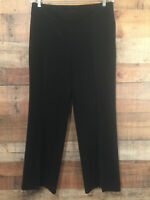 White House Black Market Womens Dress Pants Size 8R Black Flowy Wide Leg Trouser