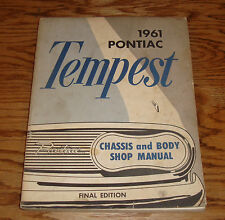 Original 1961 Pontiac Tempest Chassis and Body Shop Service Manual 61