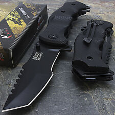 "9"" MTECH USA TACTICAL TANTO SPRING ASSISTED TACTICAL FOLDING KNIFE Blade Pocket"