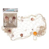 Deko Fischernetz Fischnetz mit Muscheln Maritim Strand Urlaub Meer 100 x 200 cm