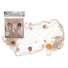 Deko Fischernetz Fischnetz mit Muscheln Maritim Strand Urlaub Merr 100 x 200 cm