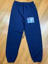 Nos Jerzees Sweat Pants Vintage 90s Made In Usa Size Xl Athletic DeadStock Blue