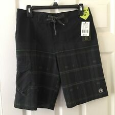 "Ocean Current Mens Board Shorts Size 30 Black 10"" Inseam Stretch New $40 E16"