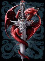 5D Diamond Painting Pterosaurs Dragon Sword Full drill Fashion Handicraft 6224X