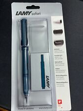 Lamy Safari Petrol Fountain Pen - Medium Nib - Limited Edition