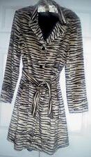Bebe Vintage Faux Fur Zebra Print Coat Women's Large
