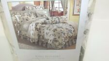 WAVERLY Garden Room Carolina Gardens beautiful KING Size Floral Bed Skirt New