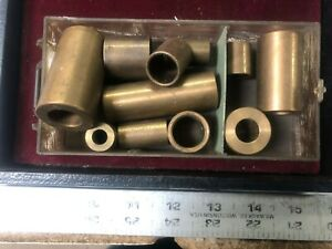 MACHINIST TOOLS LATHE MILL Machinist Lot of Bronze Oilite Bushings /