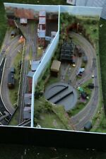 More details for  oo gauge  top quality built 2 side diorama layout  52 x 39 x 13.. garage find