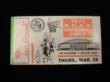 March 25, 1971 NCAA Baseball Semi Finals Ticket Stub