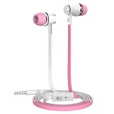 In Ear Headphones Earphones Metal Deep Bass For Samsung LG Andriod/ios Pink