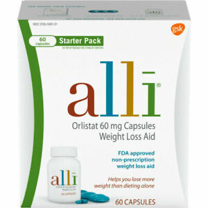 alli Orlistat 60mg Weight Loss Supplement Pills - 60 Count exp 10/2022