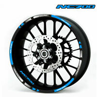 """MOTORCYCLE RIM """"17 STRIPES WHEEL DECALS TAPE STICKERS FOR HONDA NC700"""