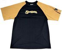 Milwaukee Brewers Navy Blue & Gold Short Sleeve Active Wear Shirt Jersey Size L?
