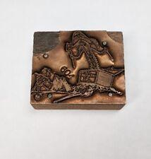 Vintage Pirate In Treasure Chest Metal Letterpress Printers Block Stamp