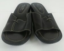 Pre-Owned Women's MONTEGO BAY Leather Slide on Shoes Size 9 Black