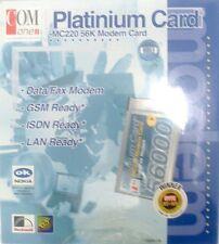 Com One Platinum Karte MC220 56K Karte Modem Hochwertig Original / Brandneu