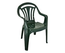 Garden Chair Low Back For Outdoor Garden Or Patio Furniture Plastic Green