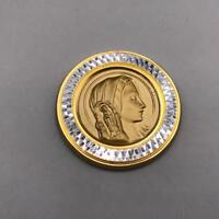 Vintage Mary Medallion Coin Religious