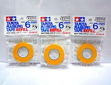 TAMIYA Masking Tape Refill 6mm / 87033 / 3 packs / Made in Japan