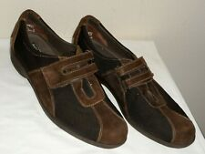 Munro American Joliet Womens Brown Suede Nylon Walking Sneaker Shoe - Size 10N
