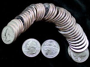 40 Coin Roll 2020 W Weir Farm NP 25c Quarter West Point  V75 Privy Mark