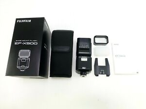 Fujifilm EF-X500 Shoe-Mount Flash in OEM Box with Accessories and Manual, in EC.