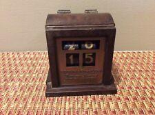 Vintage Brown & Bigelow Perpetual Desk Calendar Brass Lucite (IS-839)