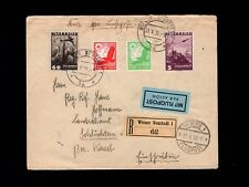 Germany Austria Franking Registered Air Mail Wiener Neustadt 1938 Cover 4l