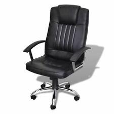 vidaXL Bureaustoel Exclusief Design 65x66x107-117 cm Leer Zwart Bureau Stoel
