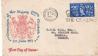 3 JUNE 1953 CORONATION 4d ILLUSTRATED COVER LONG LIVE THE QUEEN