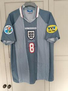 GASCOIGNE England Euro 1996 Retro 96 Shirt Jersey MEDIUM GAZZA SPURS TOTTENHAM
