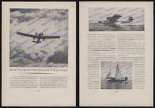 Advertising Pipe Bach RO IIIA Metal Aircraft Flying Boat Sailing Berlin Aviation 1925