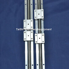 2 linear bearing slide unit SBR20-1400mm rails+4 blocks for CNC NEW