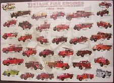 Jigsaw puzzle Fire Truck Vintage Fire Engines 1000 piece NEW made in the USA