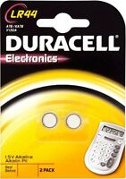 2 Knopfbatterien LR44 DURACELL V13GA AG13 L1154 A76 KA76 DLC 2020