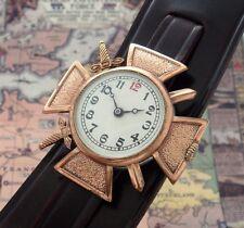 Rare Estate Men's Solid Bronze Croix de Guerre WWI era  Award Watch  - SERVICED!