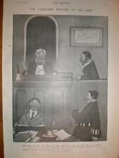 Courtroom social class joke 1906 Charles Lane Vicary