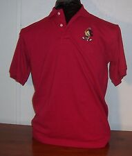 Disney Looney Classic Tweety Bird Mens Boys Red Polo Golf Cotton Shirt M