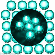 24 Turquoise Submersible Battery Led Tea Light ~ Wedding Centerpiece Table Decor